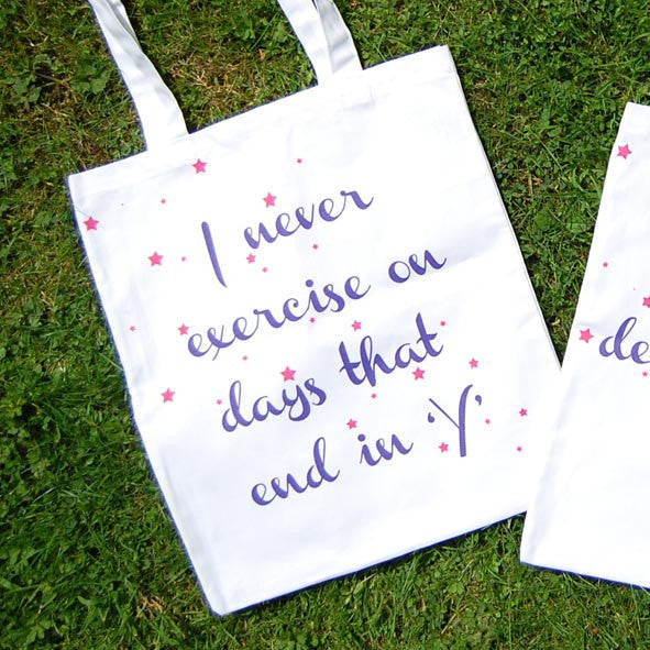 'Exercise' Tote Bag