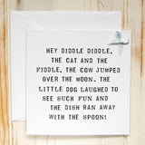 'Hey Diddle Diddle' Card