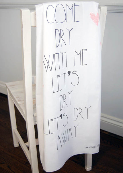 Come Dry With Me Teatowel
