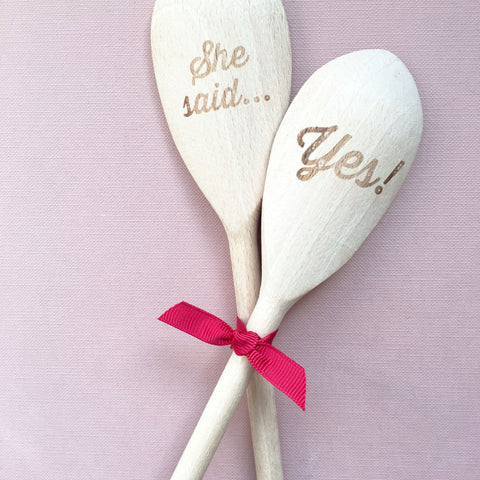 She said... Yes! wooden spoon set