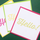Square Hello notecards