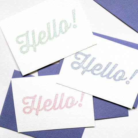 'Hello' notecards