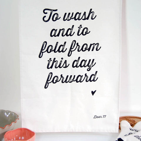 To wash and to fold teatowel