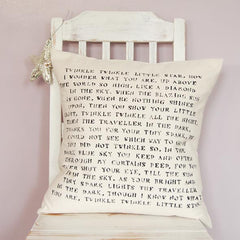 'Twinkle Twinkle Little Star' Cushion