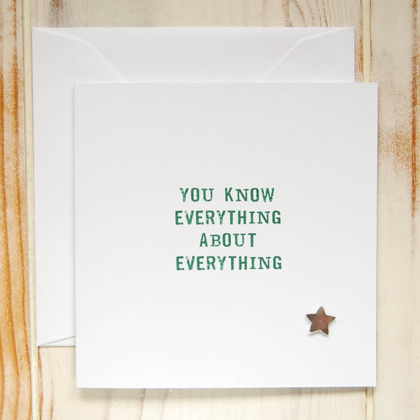 You Know Everything Card