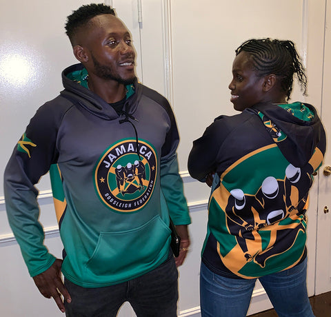 Jamaican Bobsled Team 1988 Authentic Official Team Logo Hoody Performance Cool Runnings