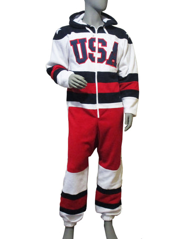 USA Hockey  Miracle on Ice 1980 USA Hockey Team Jersey Fleece Onsie - White