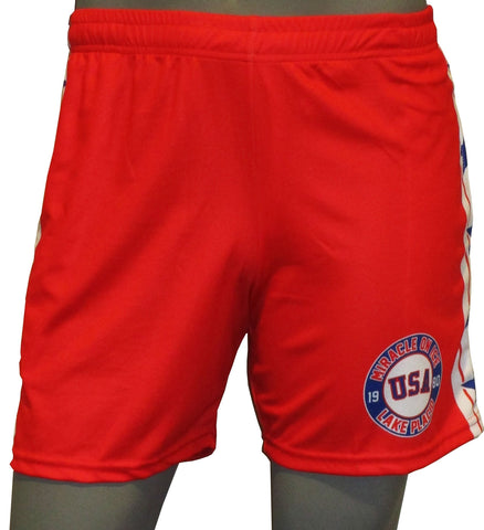 USA Hockey Youth Miracle on Ice 1980 Authentic Replica -Shorts
