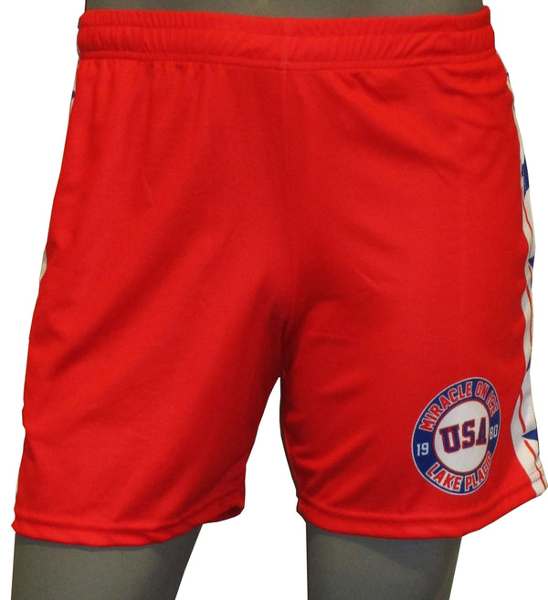 USA Hockey Adult Miracle on Ice 1980 Authentic Replica -Shorts