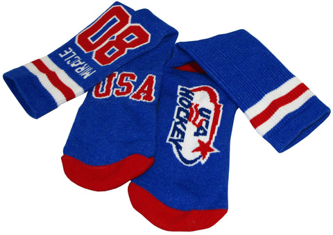 USA Hockey Miracle on Ice 1980 Crew Authentic Sock Size 10-13