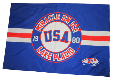 USA Hockey Miracle on Ice 1980 USA Hockey Team Flag