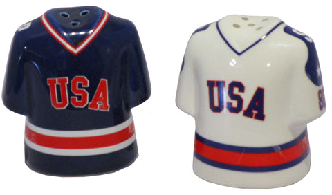 USA Miracle on Ice 1980 USA Hockey Team Authentic Jersey Salt and Pepper Shakers