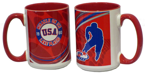 USA Hockey Miracle on Ice 1980 USA Hockey Team 15 oz Line Up Mug