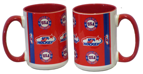 USA Hockey Miracle on Ice 1980 USA Hockey Team 15 oz Mug