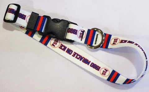 USA Hockey Miracle on Ice 1980 USA Hockey Team Home White Pet Collar