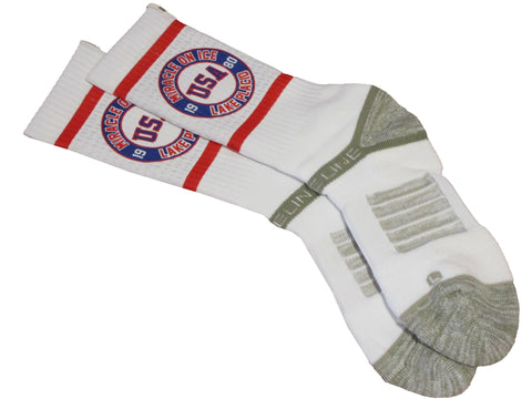 USA Hockey Miracle on Ice 1980 USA Hockey Team Strideline Premium Socks
