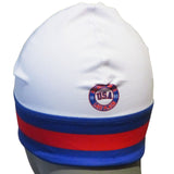 USA Hockey Miracle on Ice 1980 Performance Authentic Stretch Beanie- White