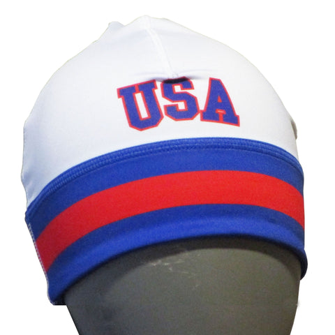 USA Hockey Miracle on Ice 1980 USA Hockey Team Performance Stretch Beanie White