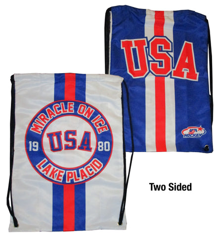 USA Hockey Miracle on Ice 1980 USA Hockey Team Performance Drawstring Bag