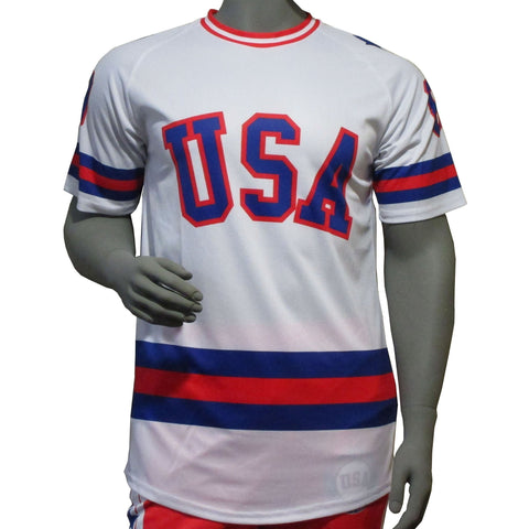 USA Hockey Adult Miracle on Ice 1980 USA Hockey Team Jersey Tee