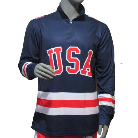 USA Hockey Adult Miracle on Ice 1980 USA Hockey Team Jersey 1/4 Zip Pullover