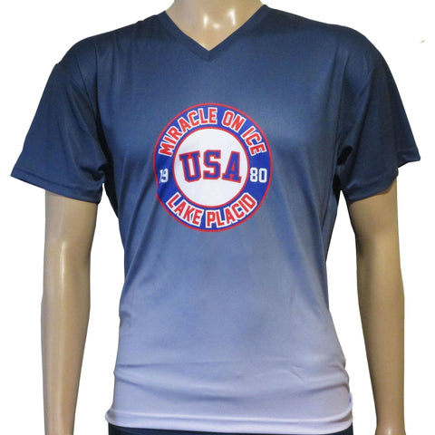 USA Hockey Miracle on Ice 1980 USA Hockey Team Ladies Authentic Performance Tee