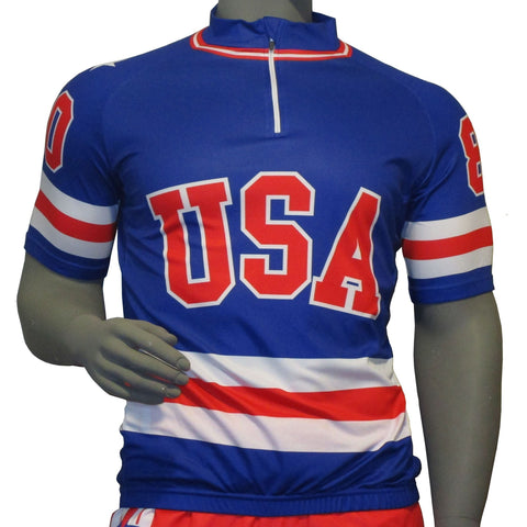 USA Hockey Adult Miracle on Ice 1980 Team Jersey Authentic Cycling 1/4 Zip