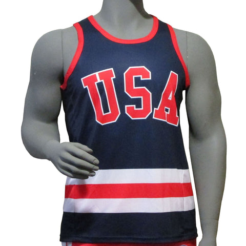 USA Hockey Miracle on Ice 1980 USA Hockey Team Jersey Tank Top