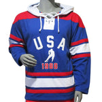 USA Hockey Adult Miracle on Ice 1980 Team Vintage Authentic Lace Hoody