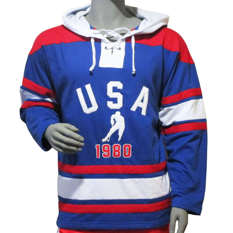USA Hockey Adult Miracle on Ice 1980 USA Hockey Team Vintage Lace Hoody
