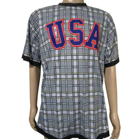 Herb Brooks Foundation Official USA Miracle 1980 Gold Medal Plaid Performance Tee