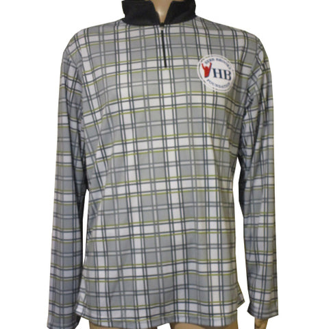 Herb Brooks Foundation Official Plaid 1/4 Zip Performance Pullover