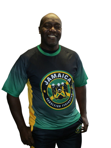 Jamaica Bobsled Officially Licensed Performance Team Jersey Cool Runnings