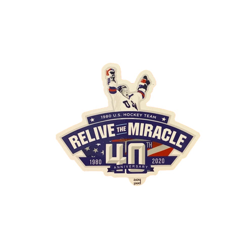 USA HOCKEY MIRACLE ON ICE RELIVE THE MIRACLE Authentic 40th anniversary Sticker