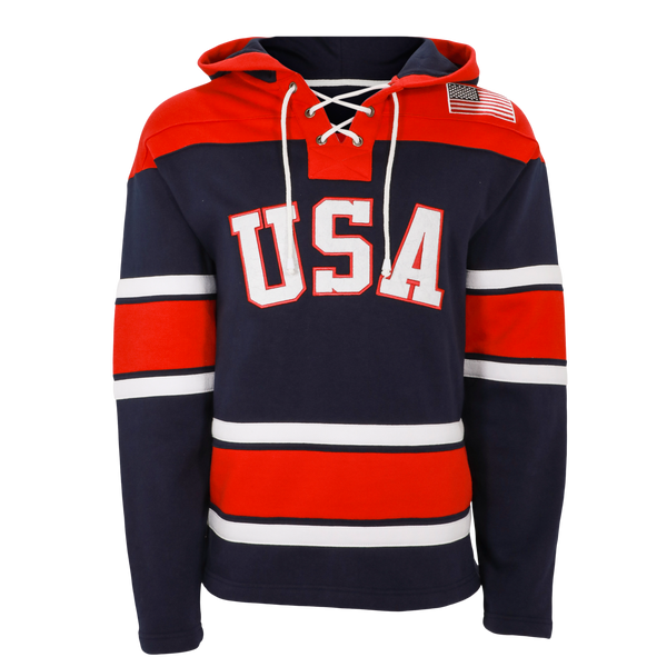 Miracle on Ice Circle Logo Embroidered Lace Vintage Hoody