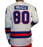 USA Hockey Miracle on Ice 1980 Jersey Authentic Replica Long Sleeve Performance Tee - White