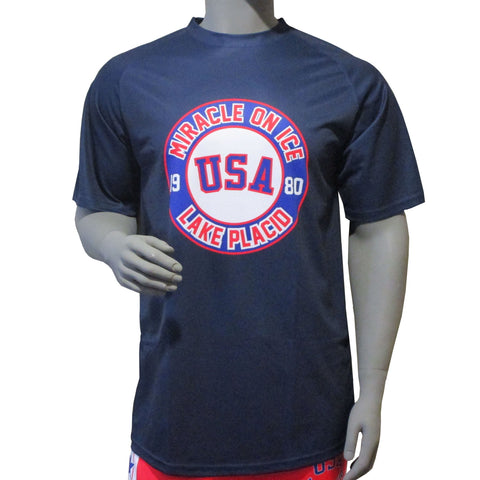 USA Hockey Adult  Miracle on Ice 1980 USA Hockey Team Logo Performance Tee