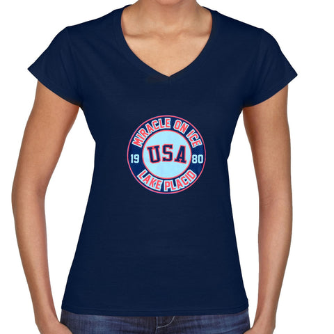 USA Hockey Adult  Miracle on Ice 1980 USA Hockey Team Ladies Tee