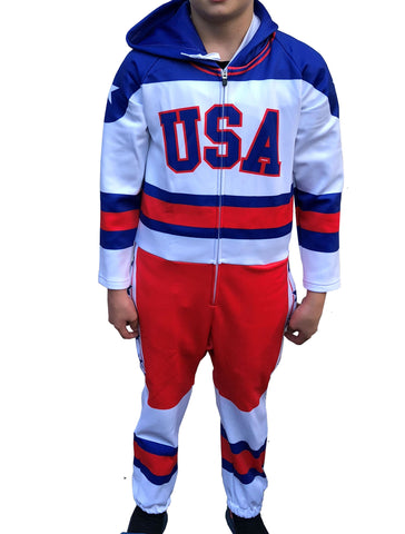 USA Hockey  Miracle on Ice 1980 USA Hockey Team Jersey Youth Fleece Onsie