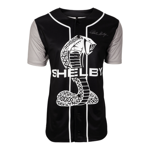 Two Stripe Shelby Racing Baseball Jersey - Black