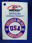 USA Hockey Adult  Miracle on Ice 1980 USA Hockey Team Authentic Who Do You Play For Tee