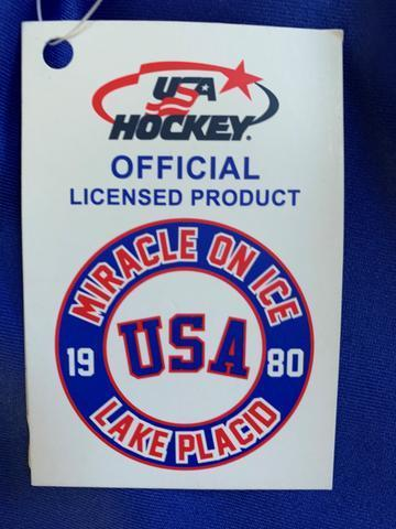 USA Hockey Adult Miracle on Ice 1980 Team Jersey Authentic 1/4 Zip Pullover