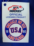 USA Hockey Adult Miracle on Ice 1980 Authentic Who Do You Play For Tee