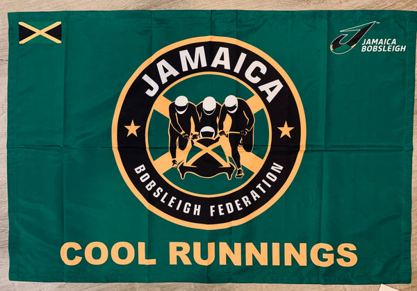 "Jamaica Bobsled Cool Runnings Limited edition Flag 24"" x 36"""