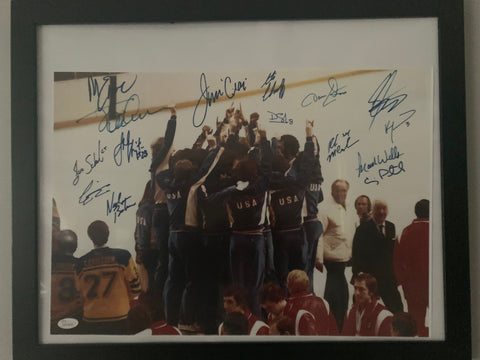 "Miracle On Ice 1980 Winter Olympics Gold Medal Ceremony 16"" x 20"" signed Photo"