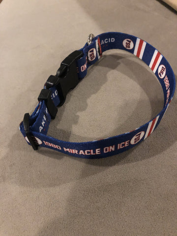 USA Hockey Miracle on Ice 1980 USA Hockey Team Royal Blue Pet Collar