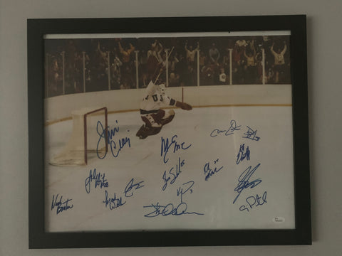 "Miracle On Ice 1980 Winter Olympics Gold Medal JIM CRAIG Buzzer 16"" x 20"" Signed Photo"
