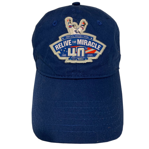USA HOCKEY MIRACLE ON ICE RELIVE THE MIRACLE 40th anniversary Authentic Hat
