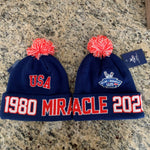 USA Hockey Miracle on Ice 40th anniversary Authentic Knit Hat 1980-2020