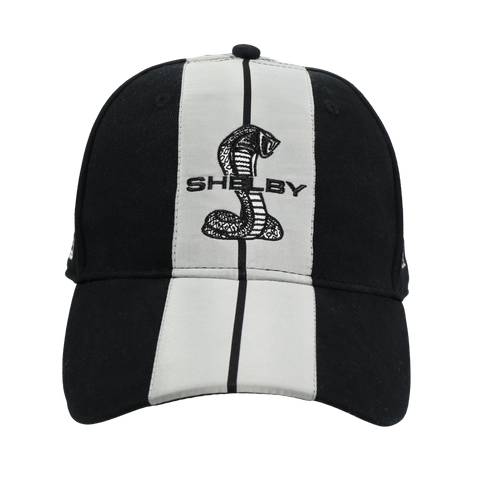 Two Stripe Shelby Racing Performance Hat - Black